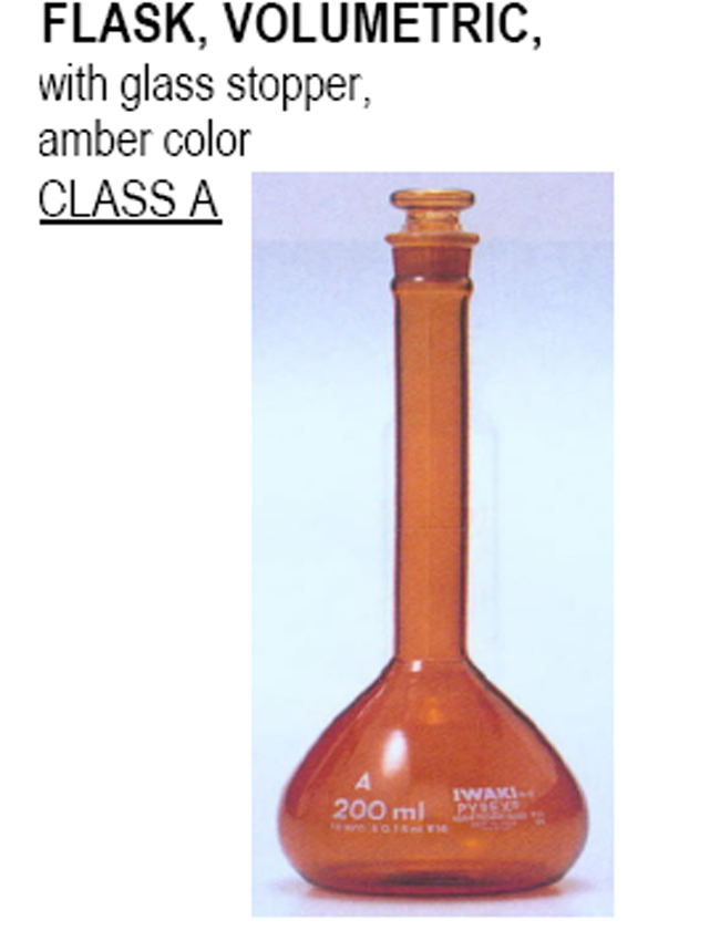 amber color with glass stopper